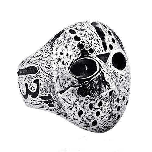 Vektenxi Punk Rock Männer Jason Hockey Maske Horror Skull Finger Ring Schmuck Langlebig und Nützlich