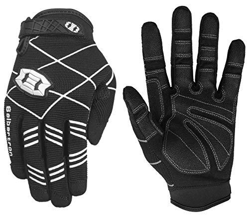 Seibertron F.O.D.G.G 2.0 Ultimate Frisbee Gloves Disc Golfhandschuh mit ultimativem Griff - geeignet für alle Wetterbedingungen Adult/Erwachsener Black L