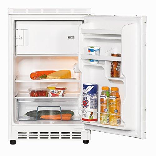 Amica UKS16157 Unterbaukühlschrank dekorfähig mit Gefrierfach / A++ / 81,6 cm Höhe / 128 kWh/Jahr / 68 Liter Kühlteil / 17 Liter Gefrierteil / wechselbarer Türanschlag, Innenbeleuchtung / weiß