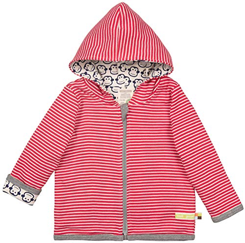 loud + proud Baby-Unisex Wendejacke aus Bio Baumwolle, GOTS Zertifiziert Jacke, Rot (Tomato to), (Herstellergröße: 62/68)