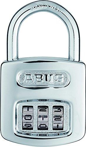ABUS Zahlenschloss 160/40 - Vorhängeschloss in hochglanz-verchromter Optik - mit individuell einstellbarem Zahlencode - 02985 - Level 5 - Silber