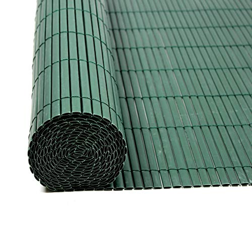 IHD Sichtschutzmatte Sichtschutzzaun Sichtschutz Windschutz PVC Zaun Balkon Garten Grün 0,80 x 3 m