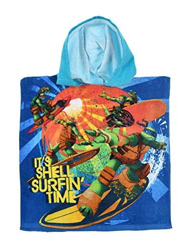 Ninja Turtles Kapuzenbadetuch, für Kinder, Jungen, Blau, Einheitsgröße (2-6 Jahre) – Blau, Einheitsgröße