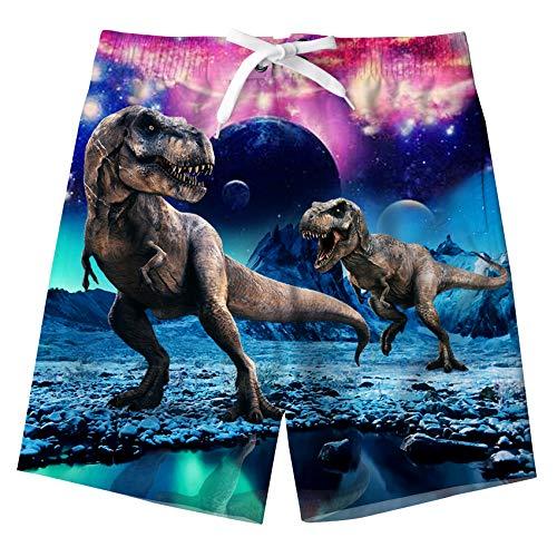 Fanient Jung's Sportwear Schnelltrocknende Boardshorts Dinosaurier-Badeshorts mit Futter
