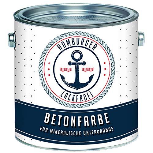 Betonfarbe SEIDENMATT Anthrazitgrau RAL 7016 Grau Bodenfarbe Bodenbeschichtung Betonbeschichtung Fassadenfarbe // Hamburger Lack-Profi (1 L)