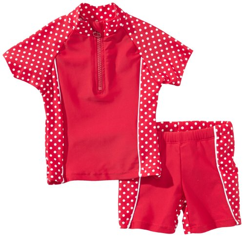Playshoes Mädchen 2-teiliges Badeanzug ,Rot (8 rot ),74/80