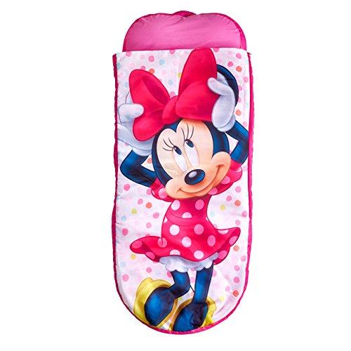 Minnie Mouse 406MTM Junior-ReadyBed – Kinder-Schlafsack und Luftbett in einem, Holz, Rosa, 150 x 62 x 20 cm