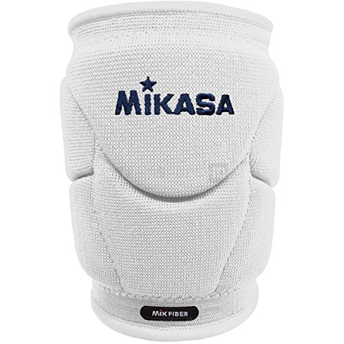 Mikasa Mt9 Kinpy Knieschützer, Volleyball, professionell, Weiß, Senior