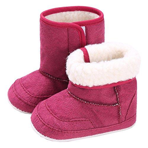 Babyschuhe 0-6 Monate für Mädchen und Jungen mit 100% Baumwolle von alimia. Baby Winter- und Sommer-Schuhe (0-6 Monate, Rote Babyschuhe)