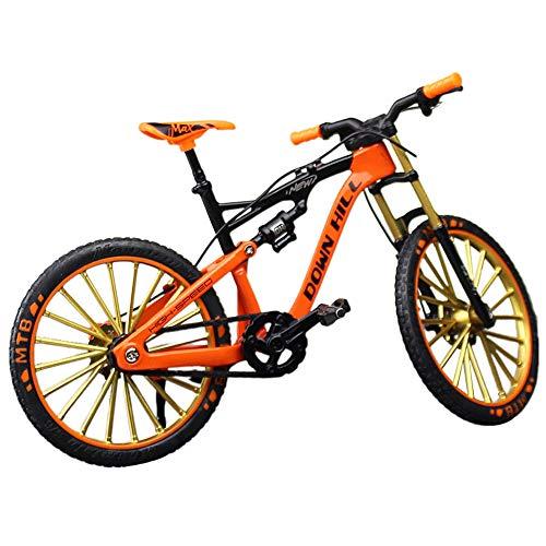 XHXseller Vintage-Kinderfahrrad, Miniatur-Finger-Mountainbike, kreatives Geschenk für Weihnachten und Geburtstag, orange