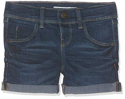 Name IT NOS Mädchen NKFSALLI DNMTALINE 3154 NOOS Shorts, Blau (Dark Blue Denim), 104 (Herstellergröße: 104)