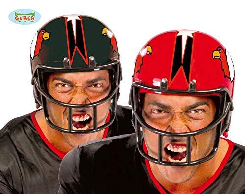 Fiestas Guirca Rot oder schwarz Kunststoff Football Helm Größe Erwachsener