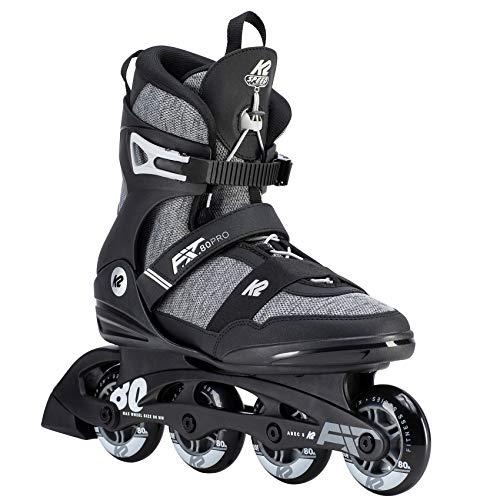 K2 Herren Inline Skates F.I.T. 80 PRO - Schwarz-Grau - EU: 44 (US: 10.5 - UK: 9.5) - 30D0771.1.1.105