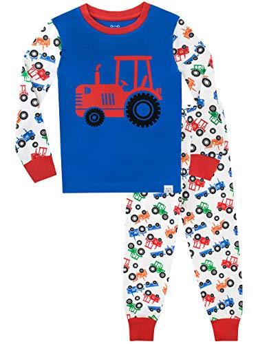 Harry Bear Jungen Schlafanzug Große Radtraktoren Slim Fit Mehrfarbig 110