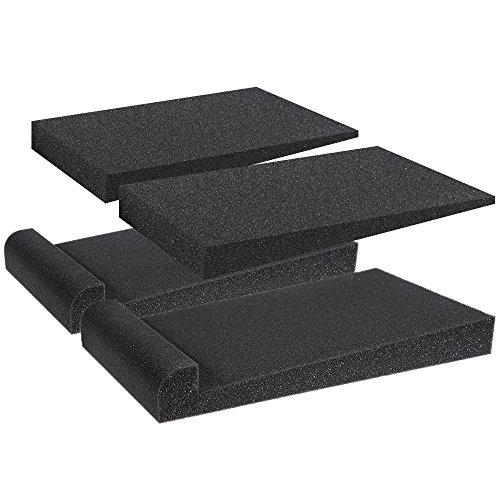 Anpro 2 Stück Studio-Monitor akustische Isolationspads, Stabilisator-Lautsprecherbasis, 30 cm x 17 cm x 3,5 cm (schwarz)
