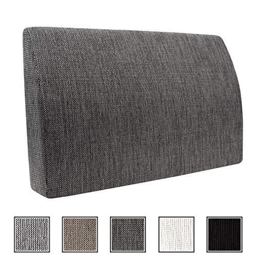 Formalind Die Fantastische Rückenlehne für Bett und Sofa 70 X 45 X 15 cm // Rückenkissen zum Fernsehen und Lesen in edlem Design aus feinem Polsterstoff (grau meliert)