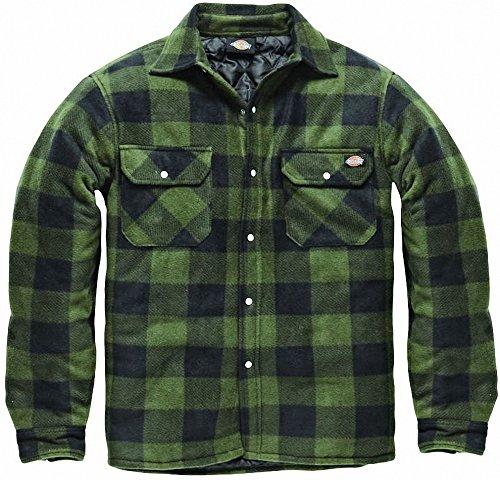 Dickies Holzfällerhemd Thermohemd Portland (grün/schwarz, M)