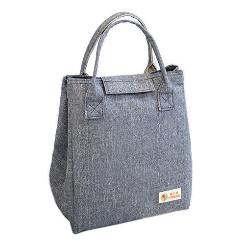 Oneyongs Tasche für Brotdose, isoliert, für Kinder, Mädchen, Damen, modern, wasserdicht. hellgrau, Stoff, 1