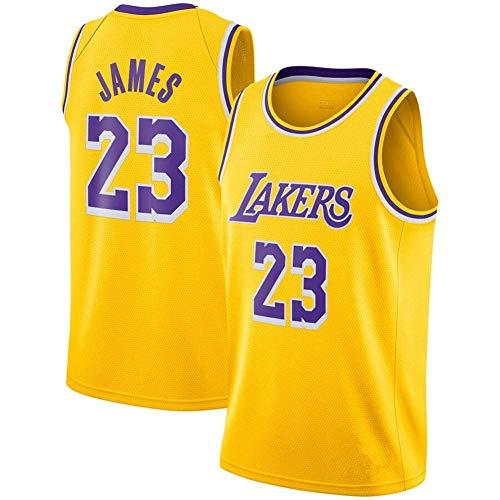 LinkLvoe NBA Lakers 23 Basketball, Herren Trikot Premium Material atmungsaktiv und schnell trocknendSwingman Jersey