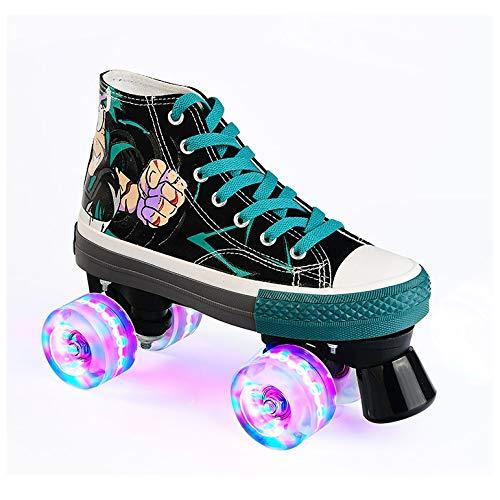 LXLTLB Inline Skates Kinder Verstellbar, Outdoor-Blades-Rollschuhen für Mädchen und Jungen, Verschleißfeste Roller Skates Herren/Damen,34