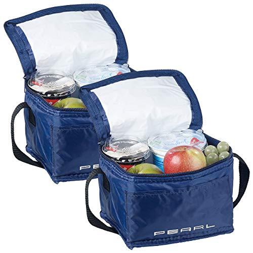 PEARL Kühltasche klein: 2er-Set isolierte Mini-Kühltaschen mit Tragegurt, je 2,5 Liter (Thermotaschen)