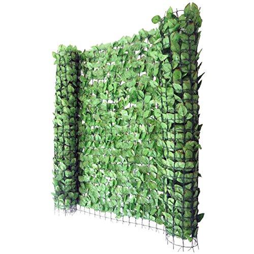 Mendler Balkonsichtschutz Buchenhecke, Windschutz Verkleidung für Terrasse Zaun ~ 300x100cm