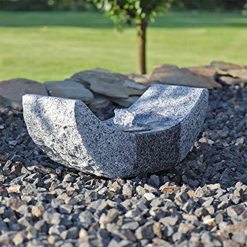 CLGarden Granit Springbrunnen SB15-2 Gartenbrunnen mit LED Beleuchtung Garten Wasserspiel Stein Brunnen