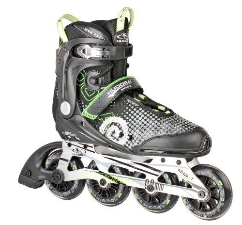 HUDORA Inliner Inline-Skates RX-90, Gr. 44, für Jugendliche und Erwachsene, schwarz/grün