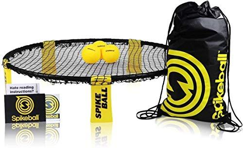 Spikeball-Set mit 3 Bällen - Zum Spielen im Freien, im Haus, im Garten, am Strand, bei Ausflügen, im Park - Enthält 3 Bälle, Turn-/Transportbeutel und Regelheft - Spiel für Kinder, Teenager, Erwachsene