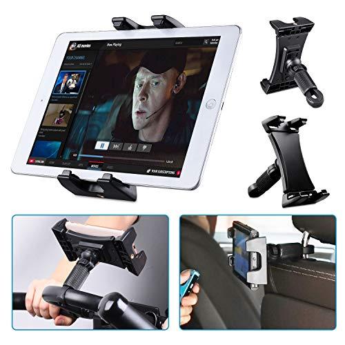 Tendak Heimtrainer Spinning Fahrrad Tablet Halter, Auto Kopfstütze Laufband Gymnastik Lenker Mikrofonständer Einstellbare 360° Schwenk Halterung für iPad Pro iPad Mini iPad Air, 4,7-12,9