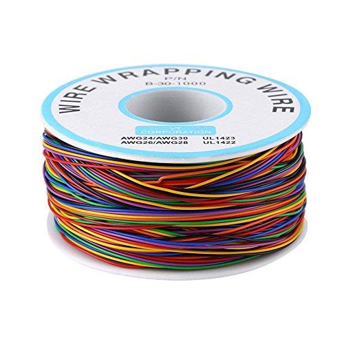 8-Adrig Gefärbte Isolierung Test Wrapping Kabel P/N B-30-1000 280M 30AWG Verzinnte Kupfer Solid Kabel 280M