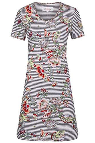 Ringella Bloomy Damen *Nachthemd Geringelt mit Blumen Schlamm 36 0251008, Schlamm, 36