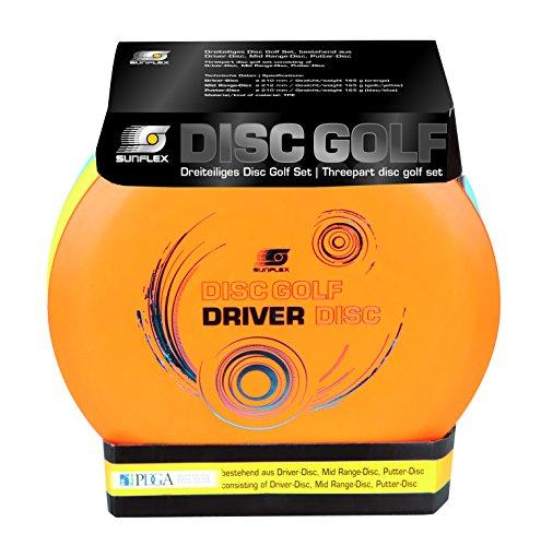 Sunflex Wurfscheibenset für Disc Golf Sport   extrem hochwertig und auch für Wettkämpfe zugelassen   Wurfscheiben für drei versch. Distanzen