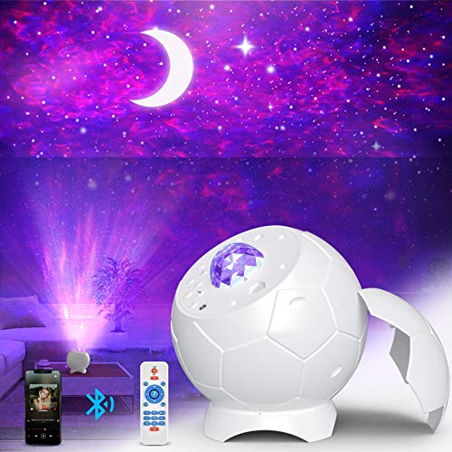 Fezax LED Sternenhimmel Projektor Lampe, 28 Lichteffekte Romantisches Sternenlicht Nebula Galaxy Lichtprojektor Farbwechsel Musikspieler mit Bluetooth & Timer für Decoration Kids Adults Rooms