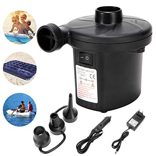 LEBEXY Elektrische Luftpumpe für Luftmatratze | Pumpe Luftmatratze | Pool Luftpumpe Elktro | Luftmatrazenpumpe Luftpumpe Matratze für Pool Schlauchboot Luftbett Gymnastikball