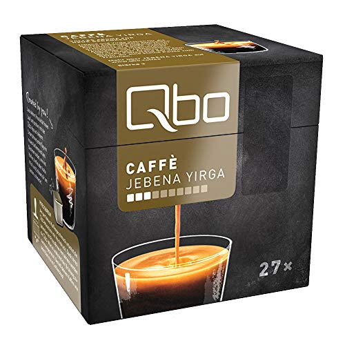 Qbo Kapseln - Caffè Jebena Yirga (Kaffee, leicht und fruchtig-aromatisch) (216 Stück)