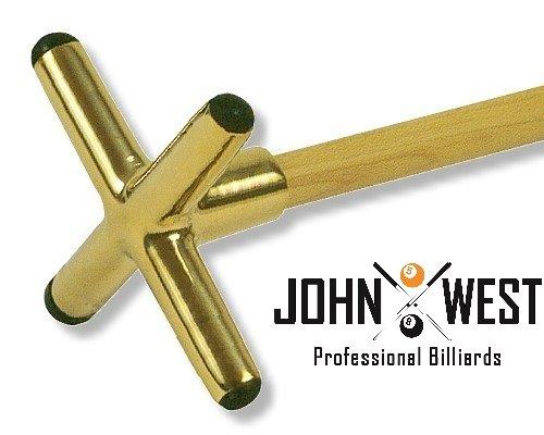 John West Billard Queuebrücke Messing Kreuz