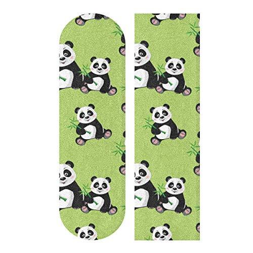 MNSRUU Schnittmuster mit süßem Panda-Motiv, Skateboard-Griffband, für Roller, Deck, Sandpapier, 22,9 x 83,8 cm