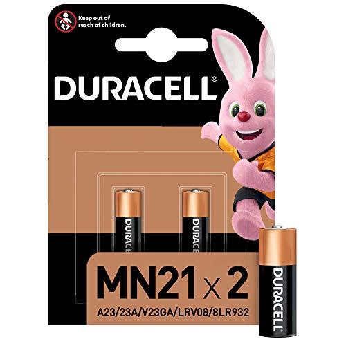 Duracell Specialty Alkaline MN21 Batterie 12V, 2er-Packung (A23 / 23A / V23GA / LRV08 / 8LR932) entwickelt für die Verwendung in Fernbedienungen, Funktürglocken und Sicherheitssystemen