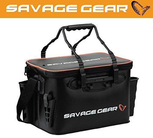 Savage Gear Boat & Bank Bag M (42x26x25cm) Angeltasche zum Spinnfischen, Spinntasche, Blinkertasche, Anglertasch, Tasche zum Spinnangeln, Ködertasche