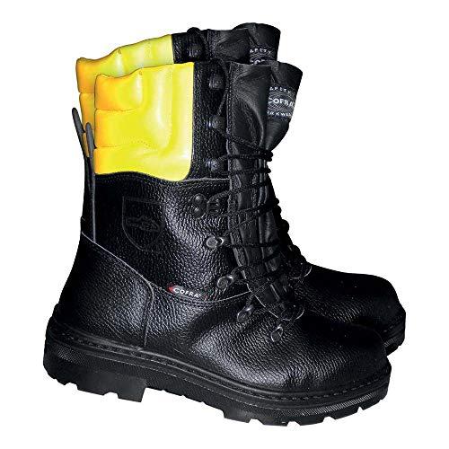 Cofra Schnittschutz-Stiefel Woodsman BIS Forstarbeiter Arbeitsstiefel mit Sägeschutz 44 Größe, schwarz, 25580-000