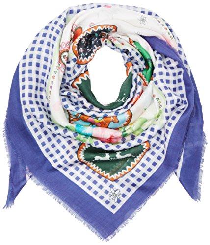 Wiesnkönig Damen Trachtenhalstuch Tuch Kunigunde, Blau (Blau 300), One Size (Herstellergröße: )