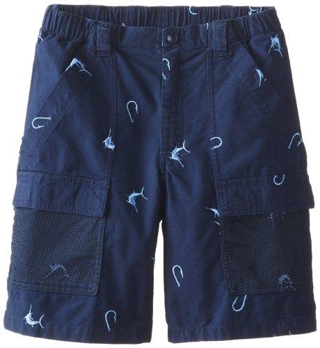 Columbia Sportswear Jungen Shorts Half Moon Bestickt (Jugendliche) XL Collegiate Marlin Marineblau