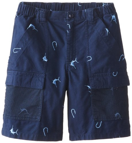 Columbia Sportswear Jungen Shorts Half Moon Bestickt (Jugendliche) M Collegiate Marlin Marineblau