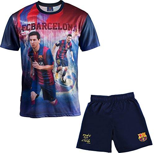 """FCBarcelona Jungen T-Shirt und Shorts """"Lionel Messi"""", offizielle Kollektion, Kindergröße 10 Jahre blau"""