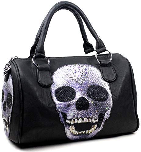 Star-Trends Damen Handtasche Totenkopf Skull Bone Bowling Bag Gothic Punk Damentasche
