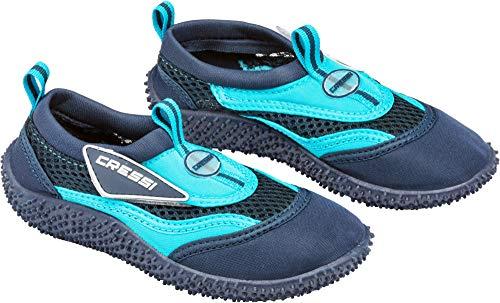 Cressi Coral Jr - Kinder Badeschuhe für Pool und Strand, Mehrfarbig (Blau/Hellblau), 32 EU