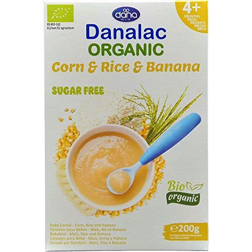 Danalac Bio Babybrei zuckerfrei 200g (Mais, Reis, Banane, 1er Pack)