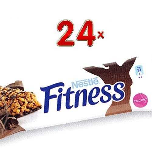 Nestle Fitness Barres Chocolat 24 x 24g Packung (Fitness-Riegel mit Schokolade)