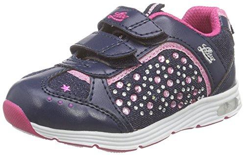 Lico SHINE V BLINKY Mädchen Sneaker, Marine/ Pink, 34 EU